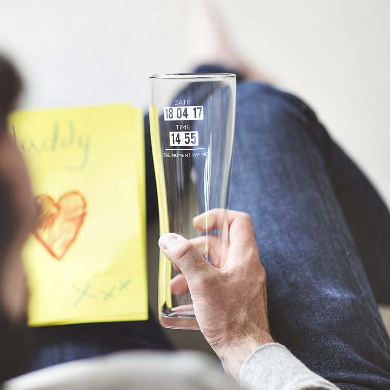 Personalised 'When You Became A Dad' Glass