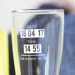 Personalised 'When You Became A Dad' Glass Detail