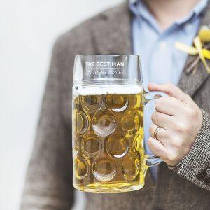 Personalised Best Man Beer Stein