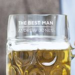 Personalised Best Man Beer Stein Detail