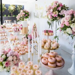 Bridal Shower Wedding Inspiration Pink Floral Table