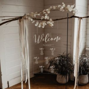 Wedding Inspiration Rustic Style With Acrylic Table Plan