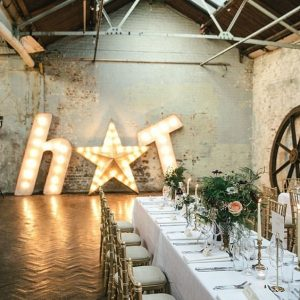Wedding Inspiration Rustic Reception With Sign