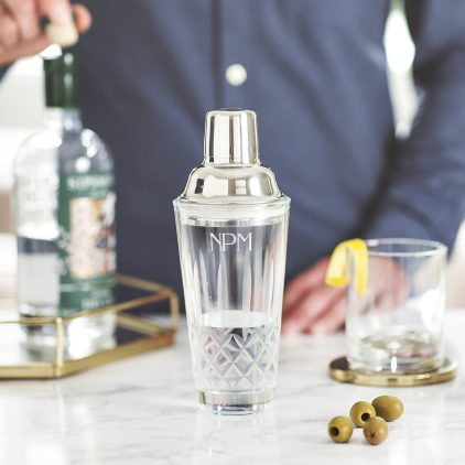Personalised Cut Glass Cocktail Shaker