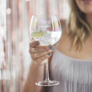 Personalised Iridescent Goblet Glass Christmas Guide For Her