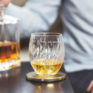 Personalised 'More Whisky' Crystal Tumbler Lifestyle