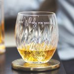 Personalised 'More Whisky' Crystal Tumbler Lifestyle Detail
