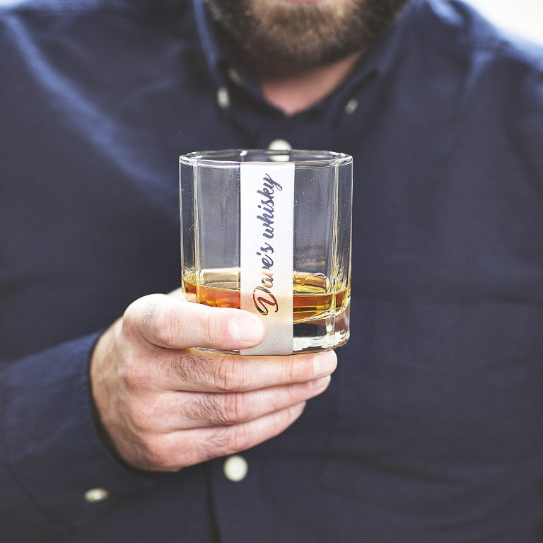 Personalised Sided Tumbler Glass Lifestyle