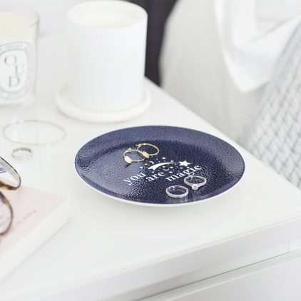 Personalised 'You Are Magic' Navy Trinket Dish Lifestyle