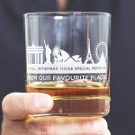 Personalised Favourite Places Skyline Tumbler Lifestyle Detail