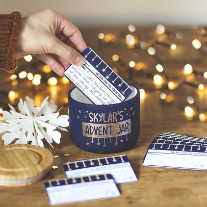 Personalised Advent Jar 1