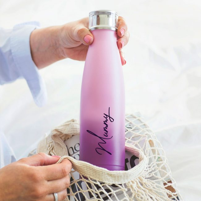 Personalised Name Ombre Water Bottle