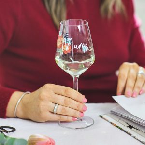 Personalised Mother Nature Wine Glass