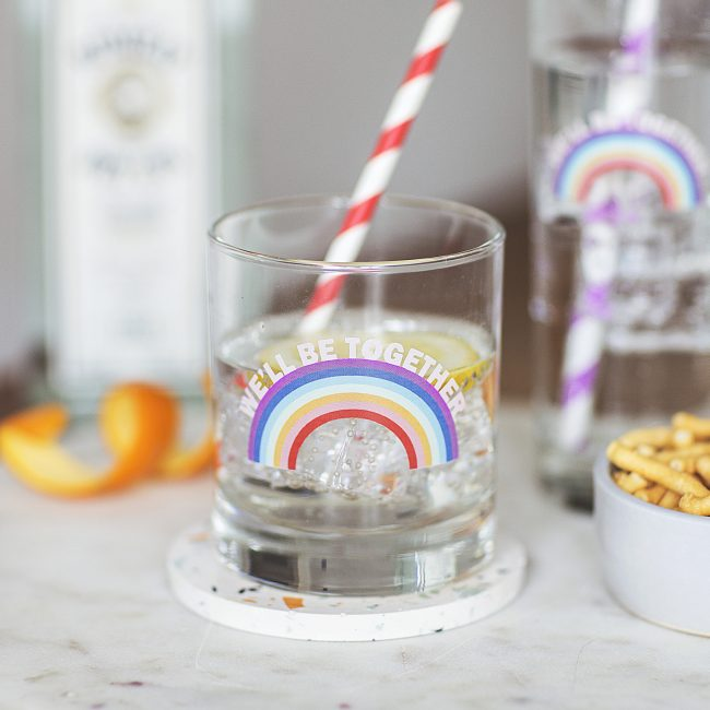 Personalised Rainbow Glass