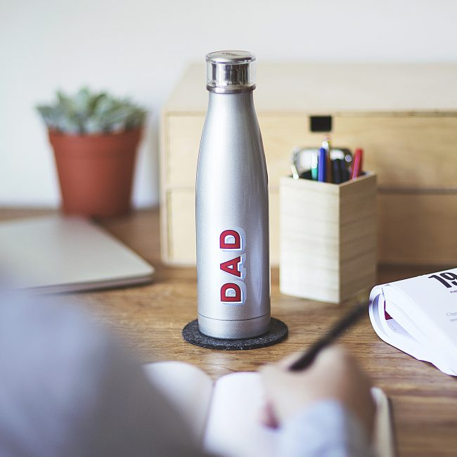 Personalised Retro Name Water Bottle