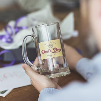 Personalised Tankard Glass For Dad