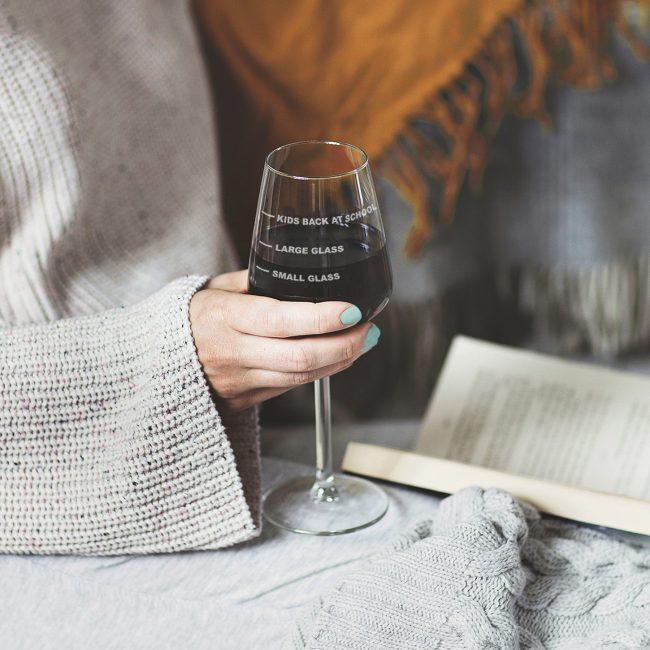 Back To School Wine Glass