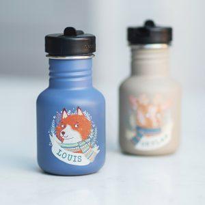 Personalised Animal Illustration Water Bottle For Kids Option Detail