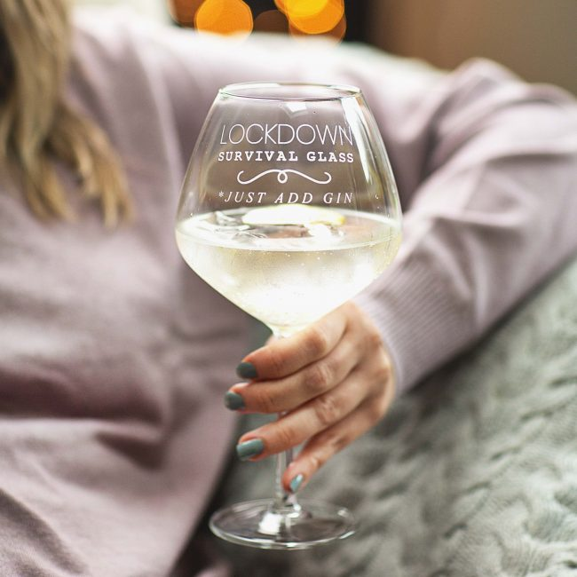 Personalised Covid Lockdown Goblet Glass
