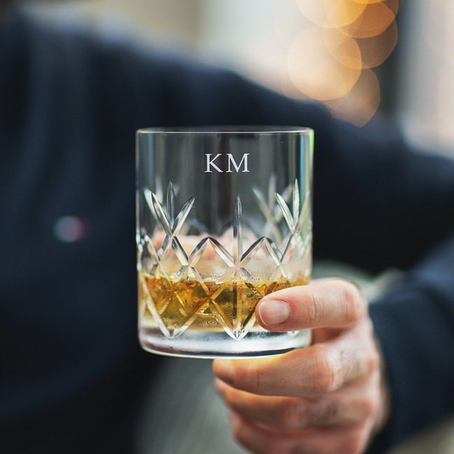 Personalised Cut Glass Crystal Whisky Tumbler
