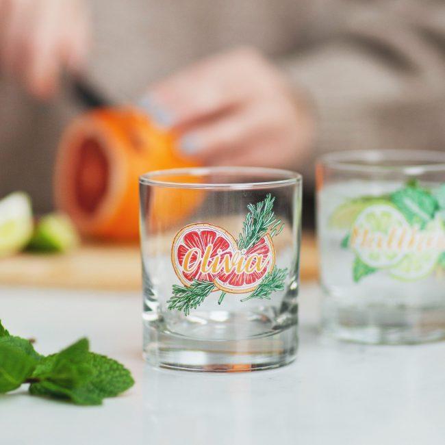 Personalised Drinks Illustration Glass