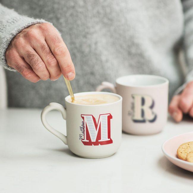 Personalised Letter Alphabet Mug