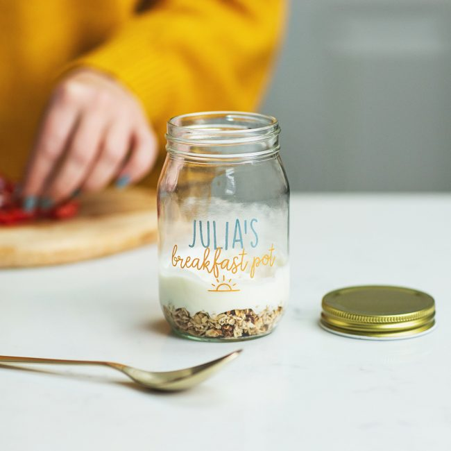 Personalised Printed Breakfast Jar