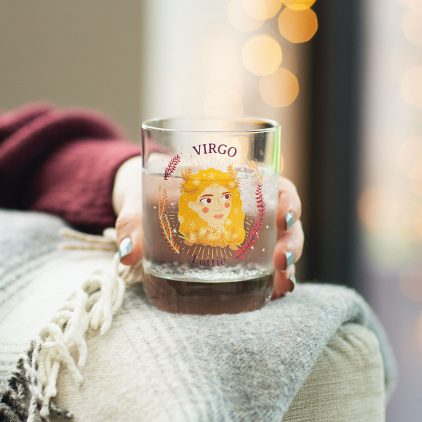 Personalised Star Sign Zodiac Glass