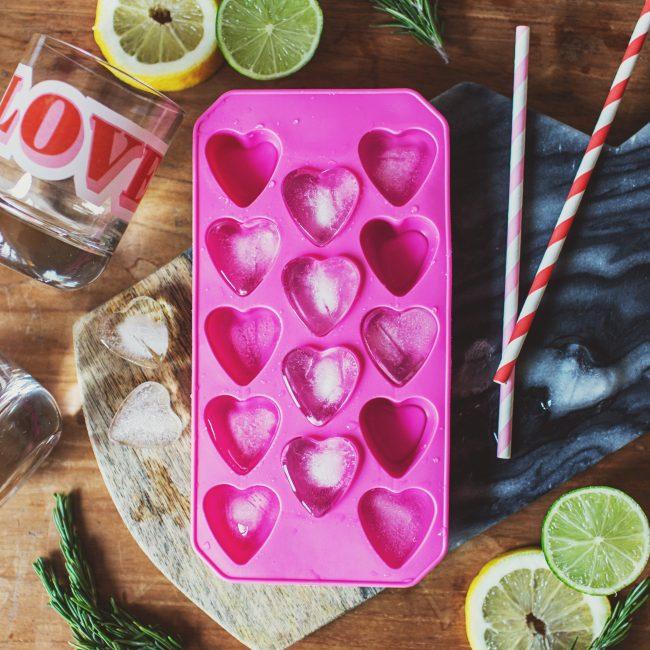 Pink Heart Ice Cube Tray