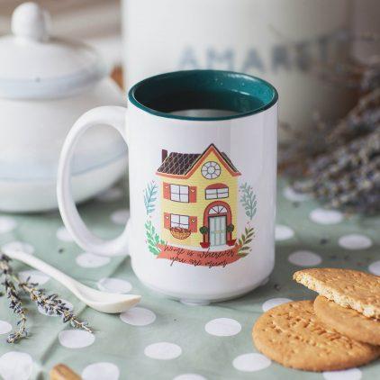 Personalised 'Home Is Where...' Mug