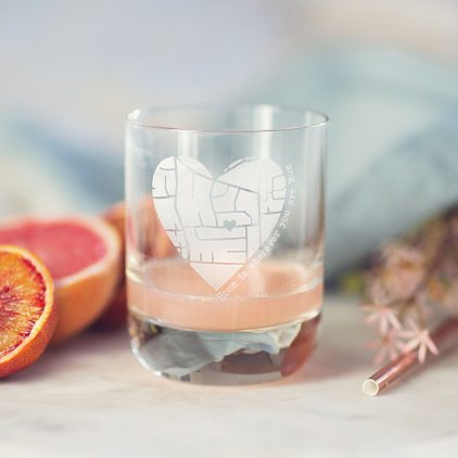 Personalised Map Glass