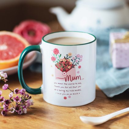 Personalised Message For Mum Mug