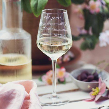 Personalised Reasons Why I Love Mum Glass