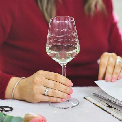 Personalised Reasons Why I Love Mum Wine Glass