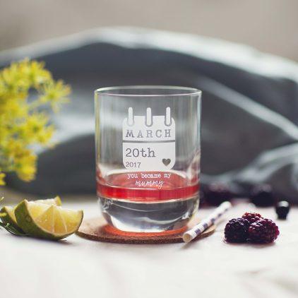 Personalised Special Date Keepsake Glass