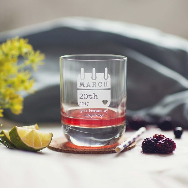 Personalised Special Date Keepsake Glass