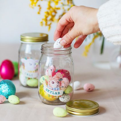 Easter Animal Treat Jar