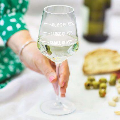 Mum's Measure Wine Glass