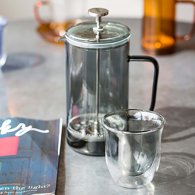 Coloured Glass Cafetiere