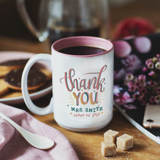 Thank You Teachers Mug Pink